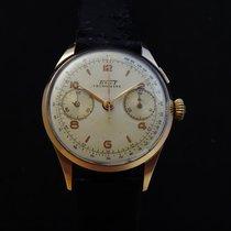 Tissot Gelbgold Handaufzug Silber Arabisch 37mm gebraucht