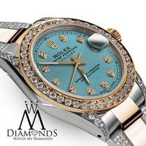 Rolex Lady-Datejust Gold/Stahl 26mm Blau