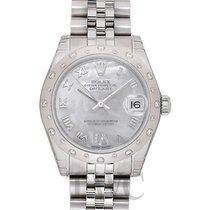 Rolex 178344 NR Or blanc Lady-Datejust 31mm nouveau