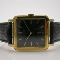 Vacheron Constantin Vintage18k Yellow Gold Black Dial Leather...