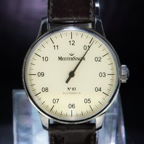 Meistersinger 43mm Automatic pre-owned N° 03 Champagne