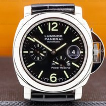 Panerai Luminor Power Reserve Steel 44mm Black Arabic numerals