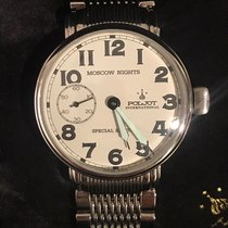 Poljot Moscow Nights Steel 43mm White Arabic numerals