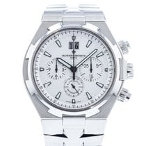 Vacheron Constantin Overseas Chronograph pre-owned 42mm Silver Date Steel