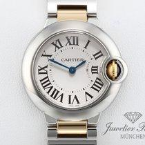 Cartier Ballon Bleu 28mm Acero y oro 28mm Plata Romanos