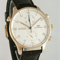 IWC Portuguese Chronograph подержанные 40mm Cеребро Хронограф Сплит-хронограф Кожа аллигатора