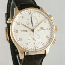 IWC Portuguese Chronograph Pозовое золото 40mm Cеребро Aрабские