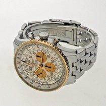 Breitling Navitimer Cosmonaute Gold/Stahl 41mm Weiß Arabisch