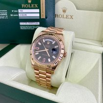 Rolex Day-Date II Red gold 41mm Brown Roman numerals