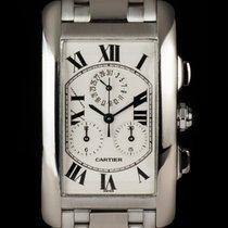 Cartier Tank Américaine pre-owned 26mm White gold