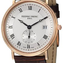 Frederique Constant Slim Line 18kt Rose Gold Mens Luxury Strap...