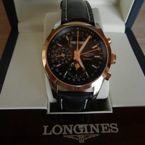 Longines Conquest Classic Gold/Stahl 42mm Schwarz