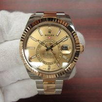 Rolex 18K/SS Two Tone Sky-Dweller Champagne Dial 326933 NEW