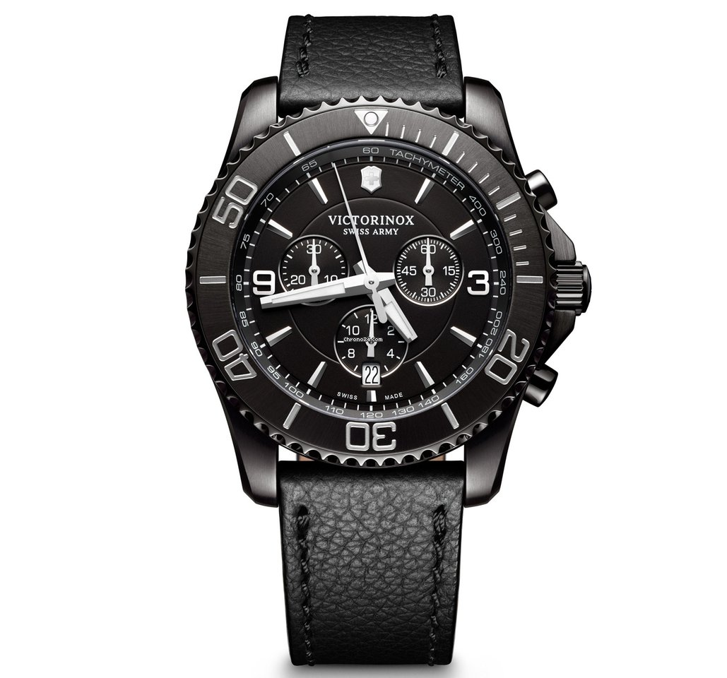 3d495c05e6d Victorinox Swiss Army Maverick Chronograph Black Edition 241786 for  595  for sale from a Trusted Seller on Chrono24