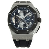Audemars Piguet Royal Oak Offshore Tourbillon Chronograph Platinum 44mm Transparent