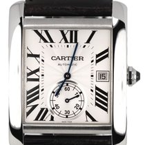 까르띠에 MINT Cartier Tank MC Automatic Silver Roman W5330003...