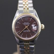 Rolex Lady-Datejust 6917 - Steel Gold-  Brown Dial