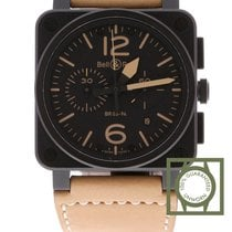 Bell & Ross BR 03 94 Heritage Steel Black Dial Brown Calfskin...