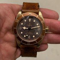 帝陀 Black Bay Bronze 青銅 43mm 棕色 阿拉伯數字