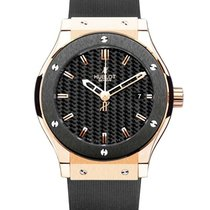 Hublot Rose gold Automatic Black No numerals 45mm pre-owned Classic Fusion 45, 42, 38, 33 mm