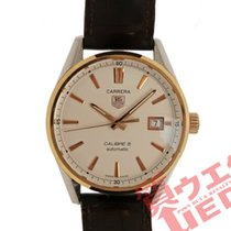 TAG Heuer Carrera Calibre 5 Gold/Steel 40mm White