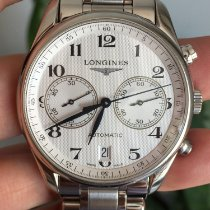Longines Master Collection pre-owned 40mm White Chronograph Date Steel