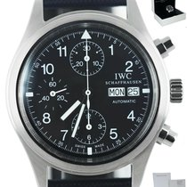 IWC Pilot Chronograph Steel 39mm Black United States of America, New York, Smithtown