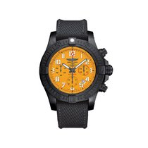 Breitling Titanium Automatic Yellow Arabic numerals 45mm new Avenger Hurricane