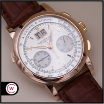 A. Lange & Söhne Datograph Rose gold 39mm Silver Roman numerals