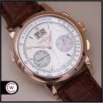 A. Lange & Söhne Datograph Ruzicasto zlato 39mm Srebro Rimski brojevi