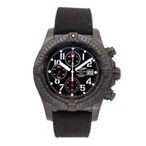 Breitling Super Avenger Steel 48.4mm Black Arabic numerals