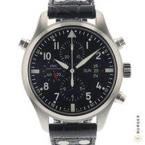 IWC Fliegeruhr Doppelchronograph Stahl 46mm Schwarz Arabisch