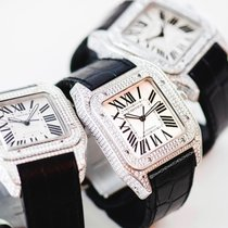 Cartier Santos 100 Acero Blanco Romanos