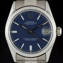 Rolex Oyster Perpetual Date White gold 30mm Blue
