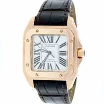 Cartier W20108Y1 Rose gold Santos 100 33mm pre-owned United States of America, New York, Greenvale