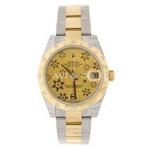 Rolex Datejust 31mm Steel & 18K Yellow Gold 24 Diamond Bezel