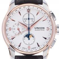 Union Glashütte Belisar Chronograph Mondphase Stahl 18kt...