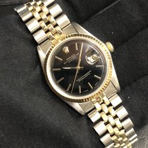 Rolex 1601 TwoTone Datejust with Black Dial