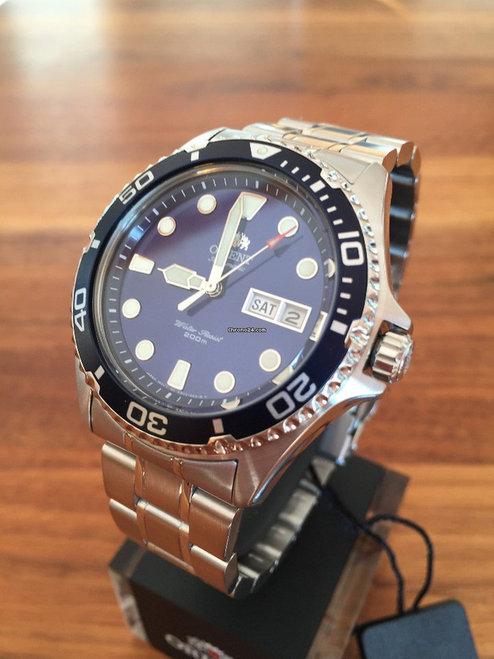 Orient Ray Ii 2 Blue Automatic Watch Automatik Taucheruhr For