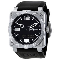 Bell & Ross BR 03-92 Steel BR0392-AVIA-ST new
