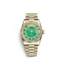 Rolex Day-Date 36 Sárgaarany 36mm Zöld