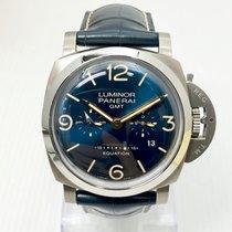 Panerai Luminor 1950 8 Days GMT Titanium 47mm Blue Arabic numerals Singapore, Singapore