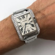 Cartier Tank Anglaise White gold 36mm Silver Roman numerals United States of America, New York, NYC