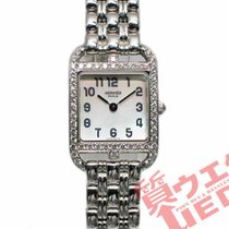 Hermès White gold Quartz Mother of pearl 19.5mm pre-owned