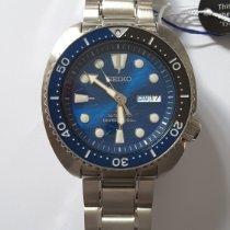 Seiko Prospex Stal 45mm Niebieski Bez cyfr