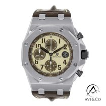 Audemars Piguet Royal Oak Offshore Chronograph Acero 42mm Blanco Arábigos