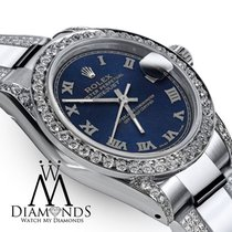 Rolex Datejust 31mm Blue Roman Dial/Diamond Bezel/Lugs/Band 68274