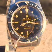 Rolex Submariner 6536/1 Tropical Brown Full Set Box & Paper