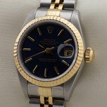 Rolex Lady-Datejust Zlato/Ocel 26mm Modrá