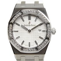 Audemars Piguet Royal Oak Stainless Steel With Diamonds White...